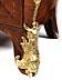 Details: Dreischübige Louis XVI-Kommode mit Marmorplatte