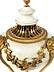 Details: Paar große Kamin-Räuchervasen in Marmor und vergoldeter Bronze