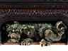 Details: Seltene historische Sitzbank mit figürlicher Dekoration von Gabriel Viardot, 1830 – 1906, zug.