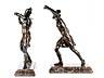 Details: Ein Paar Bronzekrieger
