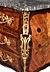 Details: Höchst repräsentative Louis XV-Kommode mit Blumenintarsien