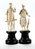 Details: Paar Elfenbeinstatuetten in historistischem Rokoko-Stil