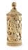 Details: Elfenbeinhumpen mit Löwenjagdszenerie