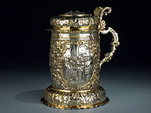 Äusserst prächtiger Nürnberger Silberhumpen um 1650/1660 von Johann Jakob Wohlraab.