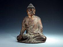 Sitzende Buddha-Figur
