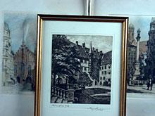 Konvolut von drei Radierungen Münchner Ansichten