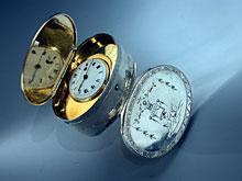 Schnupftabakdose mit eingebauter Uhr