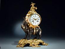 Fein Figuren-Uhr mit Elefant
