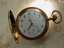 Detail images: Goldenen Herrentaschenuhr