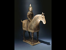 Tang-Pferd mit Krieger