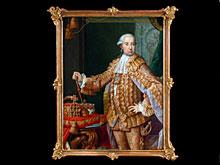 Staatsporträt Kaiser Franz I. von Österreich Wohl aus dem Atelier des Wiener Hofmalers Johann Gottfried Auerbach 1697 - 1753 Wien. Ab 1735 Hofmaler