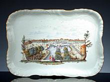 Großes Nymphenburg-Porzellan-Tablett