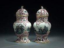 Paar Potpourri-Deckelvasen der Porzellan-Manufaktur Fürstenberg