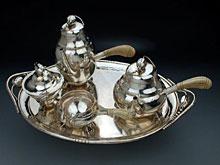 Silbernes Kaffee- und Teeservice Magnolia