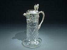 Kristallkaraffe mit Silbermontierung