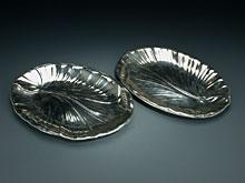 Paar Jugendstil-Silberplatten