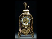 Große, französische Boulle-Uhr des 18. Jhdts.