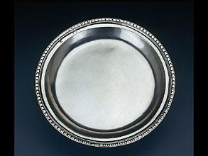Breslauer, frühklassizistische Silberplatte
