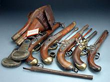 Konvolut Pistolen und Halfter