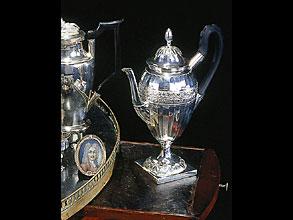 Silberne Empire-Menage