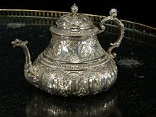 Silber-Teekanne