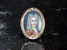 Ovales Miniatur-Portrait