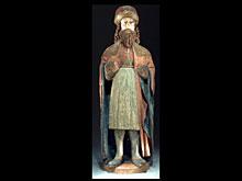 Schnitzfigur eines heiligen Königs
