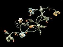 Paar kleine Schmiedeeisen-Zweige