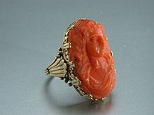 Korallen-Gemmen-Ring