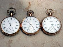 Konvolut von drei goldenen Taschenuhren