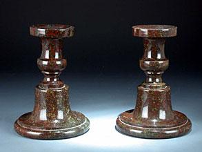 Paar stein kerzenleuchter hampel fine art auctions