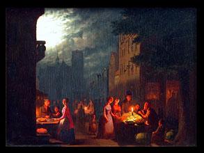 Johann Mongels Culverhouse Holländischer Genre-Maler um die Mitte des 19. Jhdt., geb. in