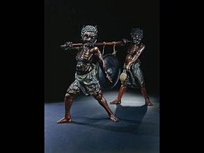 Äußerst ungewöhnliche Gruppe von zwei Oni