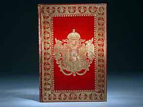 Prunkeinband. Geschenk an den König von Griechenland Otto I.