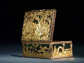 Jagdliche, französische Gold-Tabatière