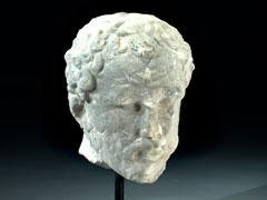 Marmor-Kopf einer Hercules-Figur