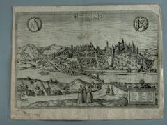 Konvolut von 6 Stichen Stadtansichten des 17. Jhdts. aus einem Städtebuch