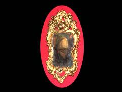 Kleiner französischer Rokoko-Spiegel