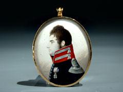 Kleine Miniatur von  Jakob Axel Gillberg,  1769 Stockholm - 1845