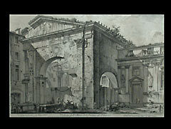 Radierung von Piranesi aus ´Vedute di Roma´ ca. 1761