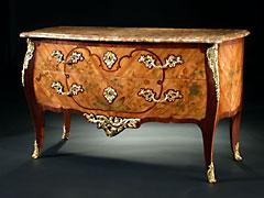 Hochwertige französische Louis XV-Kommode von Jacques van Oostenryk