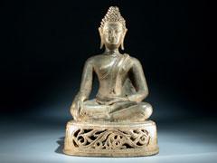 Buddha-Figur in Bronze