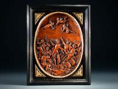 Italienisches Reliefschnitzbild, Triumph der Galatea