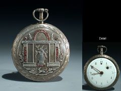 Detail images: Silberne Herrentaschenuhr
