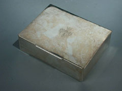 Silberne Zigarren/Zigarettendose