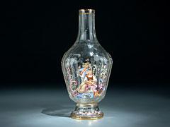 Lobmeyer Kristallflasche (Abb. linke Seite)