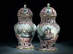 Paar Potpourri-Vasen