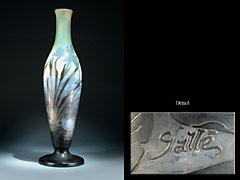 Hohe Jugendstil-Vase von Gallé.