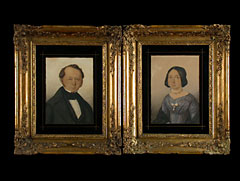 Paar Biedermeier-Portraitgemälde