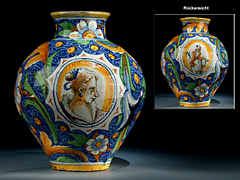 Venezianische Majolika-Vase